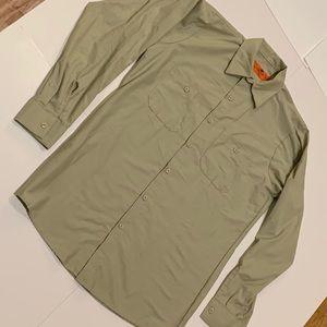 New Men's Red Kap Long Sleeve Button Down Shirt